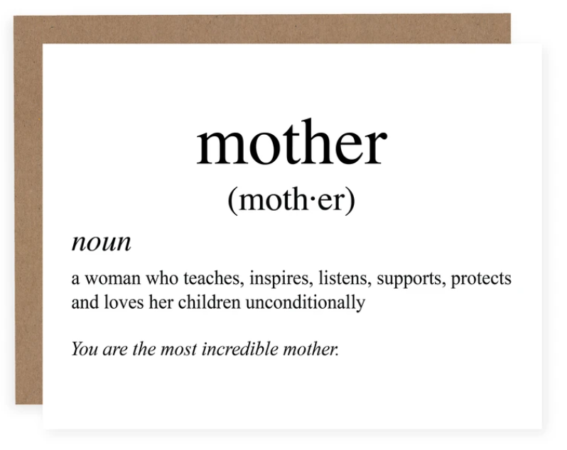 Mother's Day Card - Definition