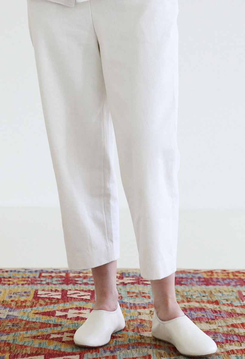White Selvedge Denim Trousers