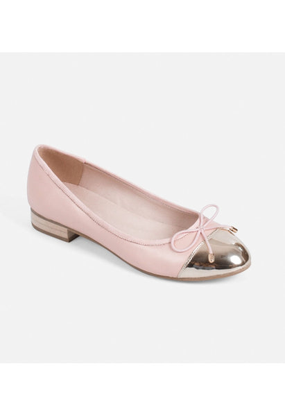 Pink Leather Ballet Flats - Alison Sman - 2