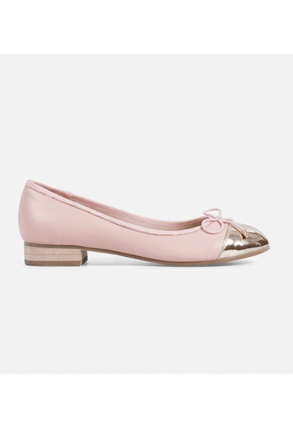 Pink Leather Ballet Flats - Alison Sman - 1