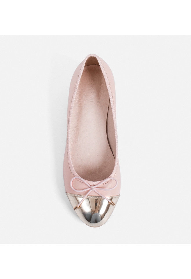 Pink Leather Ballet Flats - Alison Sman - 3