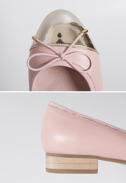 Pink Leather Ballet Flats - Alison Sman - 5