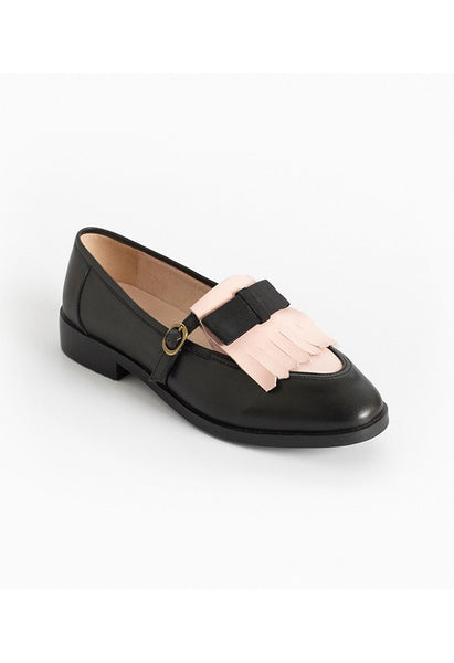 Bow Tassel Leather Loafers - Alison Sman - 2