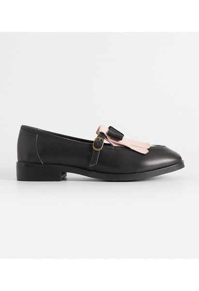Bow Tassel Leather Loafers - Alison Sman - 1