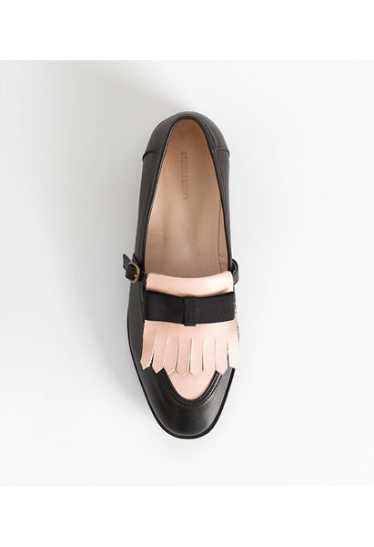 Bow Tassel Leather Loafers - Alison Sman - 3