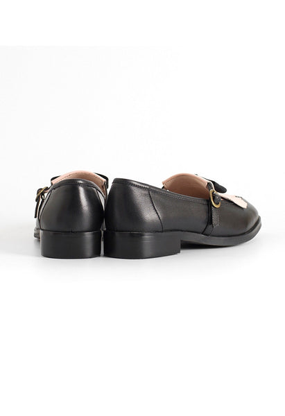 Bow Tassel Leather Loafers - Alison Sman - 4