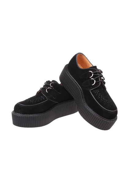 Black Suede Leather Creepers - Alison Sman - 4