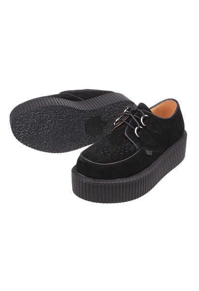 Black Suede Leather Creepers - Alison Sman - 3