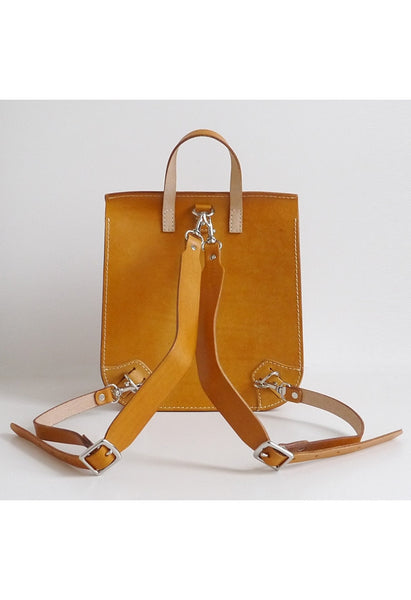 Leather Box Backpack - Alison Sman - 2