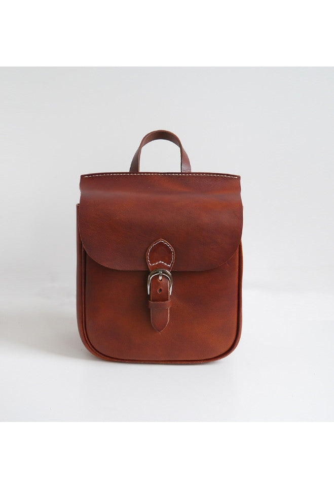 Leather Box Backpack - Alison Sman - 1