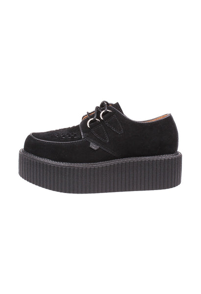 Black Suede Leather Creepers - Alison Sman - 2
