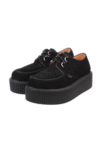 Black Suede Leather Creepers - Alison Sman - 1