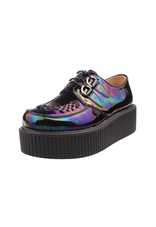 Dark Hologram Leather Creepers - Alison Sman - 2