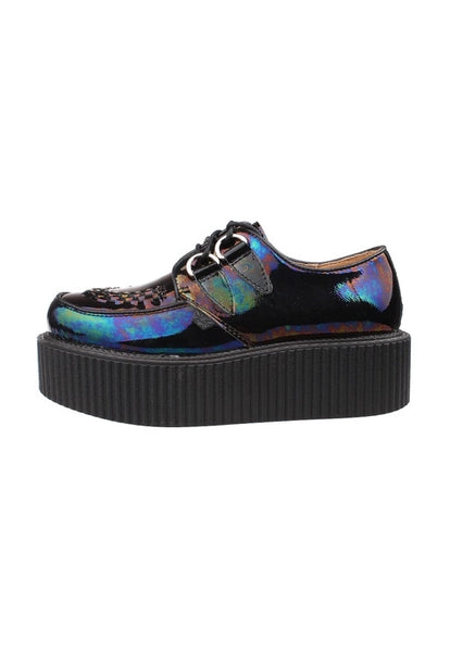 Dark Hologram Leather Creepers - Alison Sman - 3