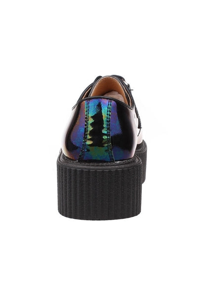 Dark Hologram Leather Creepers - Alison Sman - 4