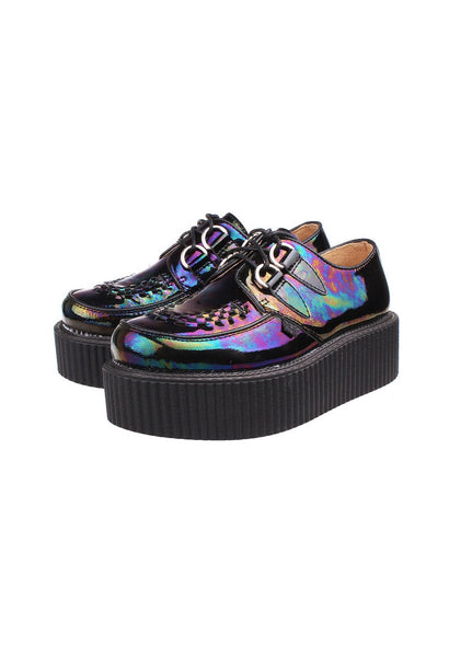 Dark Hologram Leather Creepers - Alison Sman - 1