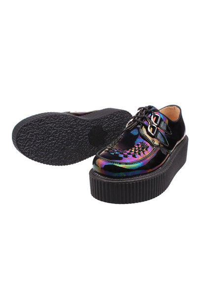 Dark Hologram Leather Creepers - Alison Sman - 5