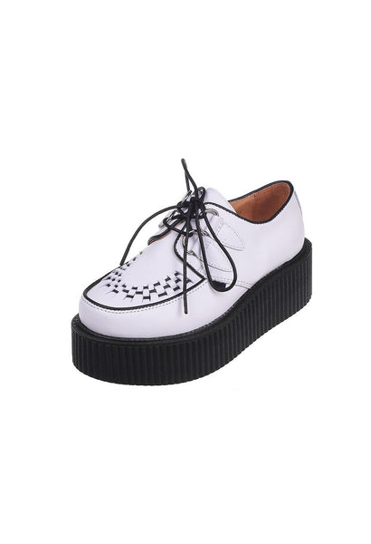 White Leather Creepers - Alison Sman - 2
