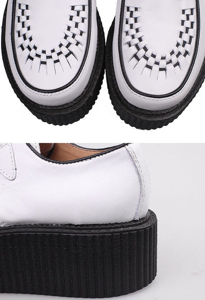 White Leather Creepers - Alison Sman - 3