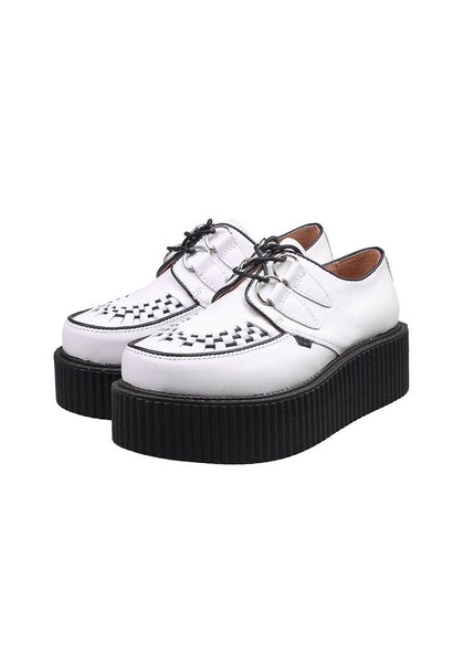 White Leather Creepers - Alison Sman - 1