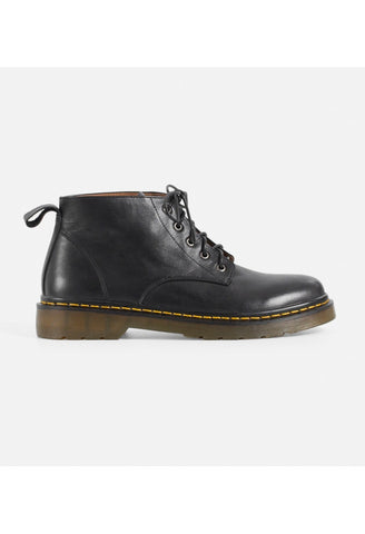 Calfskin Lace-up Short Boots