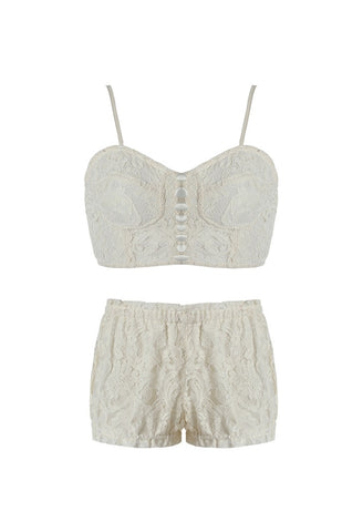 Ria Lace Bralette and Shorts