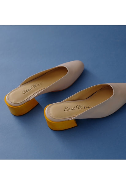 East West Calfskin Mules