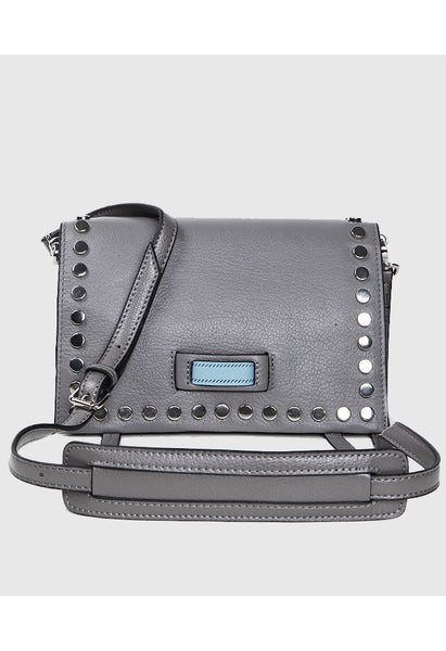 Soft Leather Studded Shoulder Bag