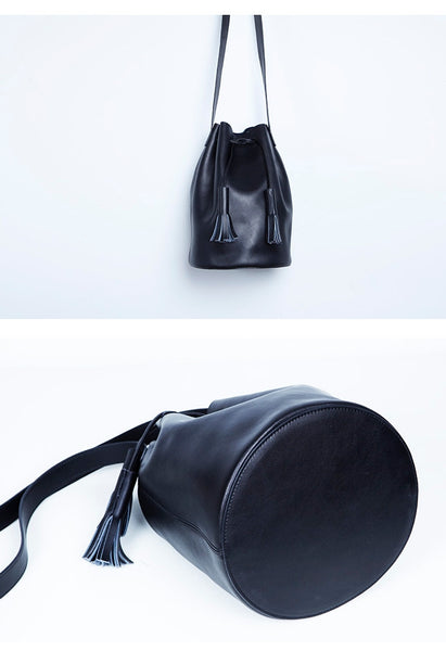Signature Leather Bucket Bag - Alison Sman - 4