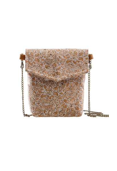 Natural 'Flora' Cork Wood Bag - Alison Sman - 3