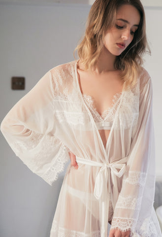Eve Open Back Lace Robe