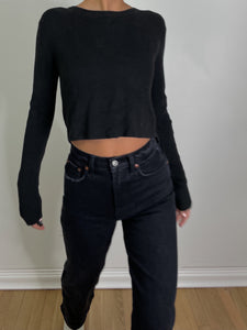 BASIC CROPPED KNIT