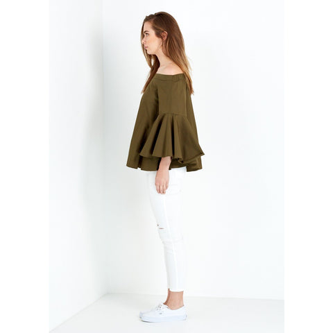 Elene Top in khaki - Imonni