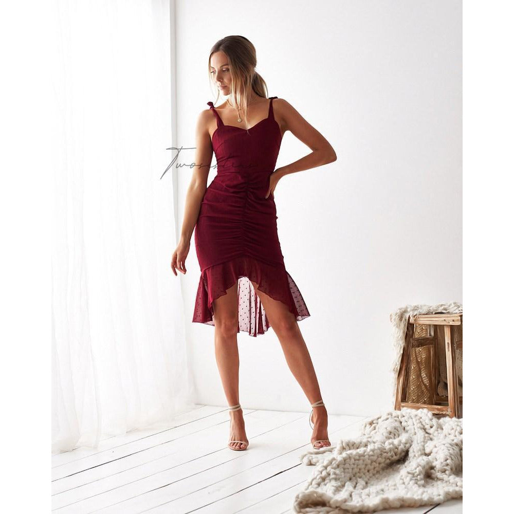Boston dress in red