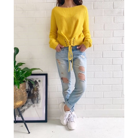 Lacey Knit in yellow