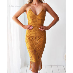 Khaleesi dress in mustard