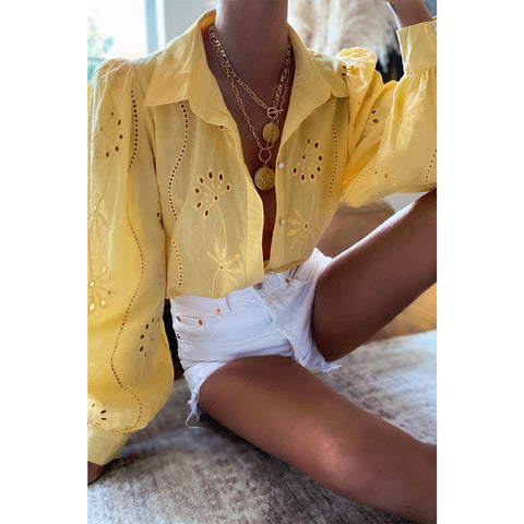 Knowles blouse in mango - Seven Wonders the label