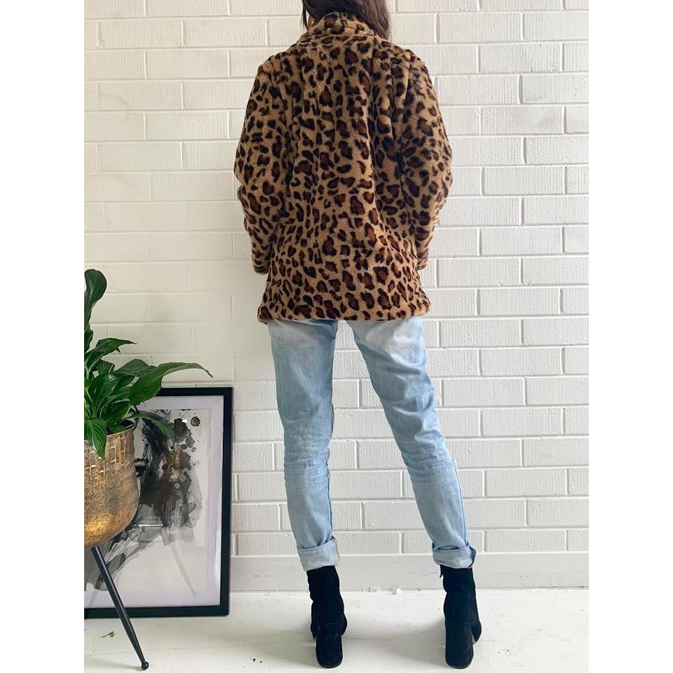 Poppy Coat - Brown Leopard