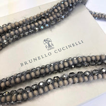 Load image into Gallery viewer, BRUNELLO CUCINELLI Wool Beadwork Wrap Necklace