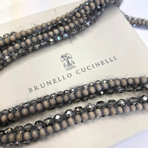BRUNELLO CUCINELLI Wool Beadwork Wrap Necklace