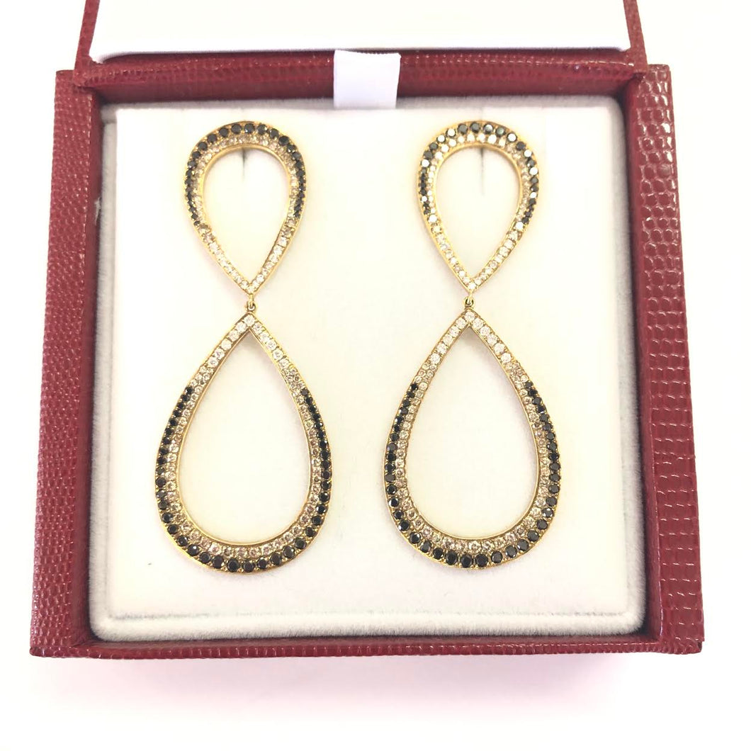 BESSA Black & White Diamond Earrings FINE JEWELRY