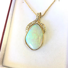 Load image into Gallery viewer, Opal & Diamond Pendant 18k Gold FINE JEWELRY