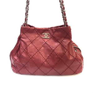 CHANEL Quilted Zipper Hobo Bag
