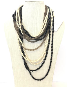 BRUNELLO CUCINELLI Layered Beadwork Necklace NWT