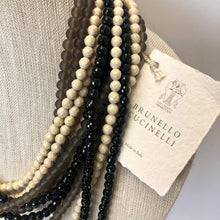 Load image into Gallery viewer, BRUNELLO CUCINELLI Layered Beadwork Necklace NWT