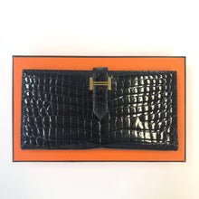 Load image into Gallery viewer, HERMES Crocodile Bifold Clutch