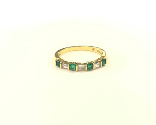 Tiffany & Co. Diamond & Emerald Ring FINE JEWELRY
