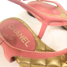 Load image into Gallery viewer, CHANEL T-strap Quilted Sandal