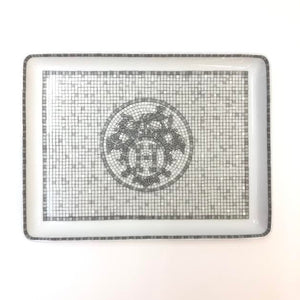 HERMES Mosaique Porcelain Plate Lifestyle Collection