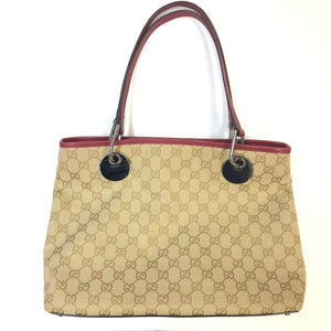 GUCCI GG Bordeaux Canvas Tote